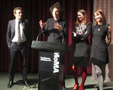 Alessandro Nivola, Azazel Jacobs, Emily Mortimer and Dolly Wells at the King Bee Productions Doll & Em première at MoMA