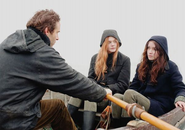 Alessandro Nivola, Elle Fanning and Alice Englert in Ginger And Rosa
