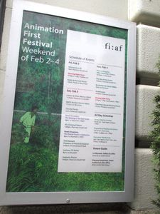 Animation First Festival poster at the French Institute Alliance Française in New York