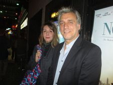 Lior Ashkenazi with Anne-Katrin Titze on the opening night at Landmark Sunshine Cinema
