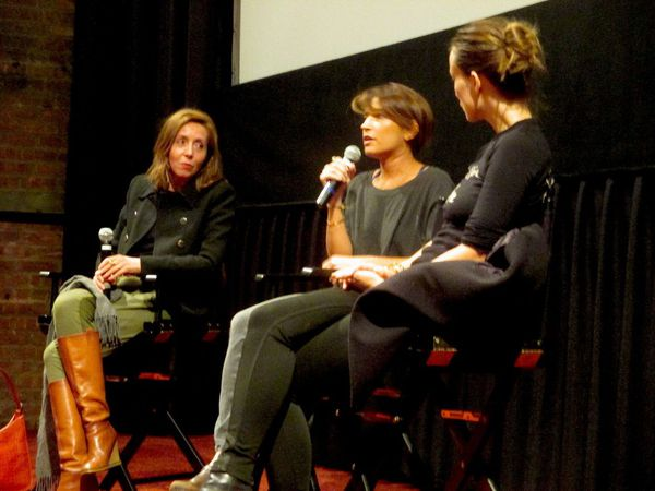 "Reed Morano with Anne-Katrin Titze and Olivia Wilde: ""The idea of hearing the occasional sound is actually what we did …"""