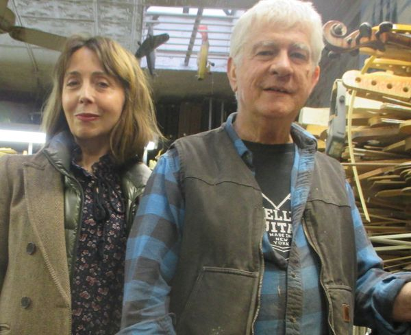 "Rick Kelly with Anne-Katrin Titze at Carmine Street Guitars on instigator Jim Jarmusch: ""I really like The Limits of Control because there's some of my dialogue that's in that movie."""