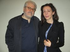 Anne-Katrin Titze with Long Live Freedom (Viva la libertà) director Roberto Andò