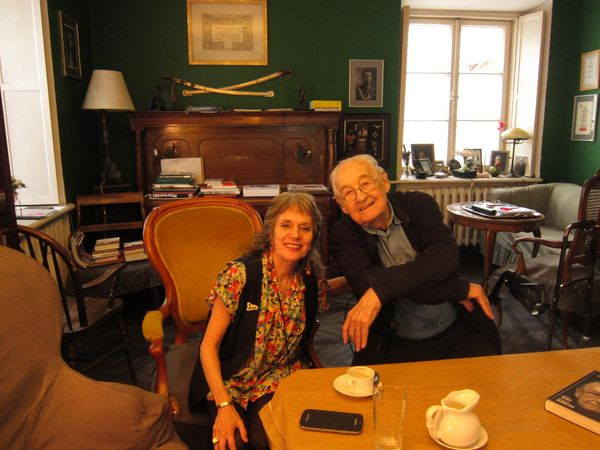 Annette Insdorf with Andrzej Wajda at his home in July, 2014