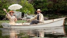 Annette Bening with Corey Stoll in Michael Mayer's The Seagull, costumes by Ann Roth