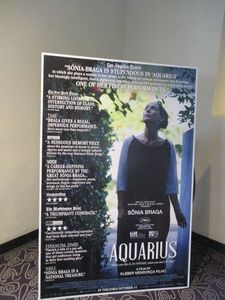 Aquarius poster at the Angelika Film Center
