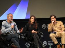 "Olivier Assayas and Édgar Ramírez with Penélope Cruz: ""Kisses, kisses, kisses, kisses. And suddenly she fell asleep. And it was finished."""