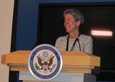 Donna Ann Welton, Deputy Director of Communications & Public Diplomacy for the U.S. Mission to the United Nations. Photo by Anne-Katrin Titze.