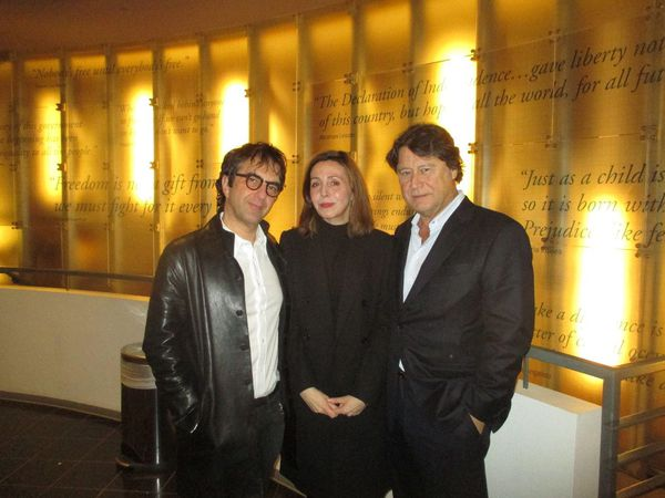 Atom Egoyan and Robert Lantos with Anne-Katrin Titze at the Museum of Tolerance