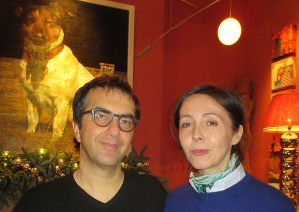 The Captive director Atom Egoyan with Anne-Katrin Titze in New York