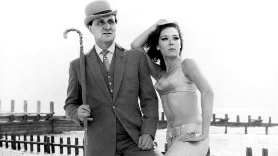 Patrick McNee and Diana Rigg in The Avengers.