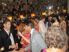 Avi Nash being congratulated at the Learning To Drive after party