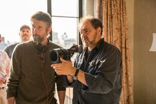 Bart Freundlich with cinematographer Julio Macat on the set of After The Wedding
