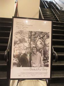 Beautiful Boy poster at the Angelika Film Center in New York - Opens on October 12