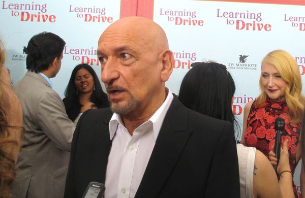 Ben Kingsley and Patricia Clarkson on the Learning to Drive red carpet