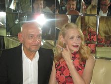 Learning To Drive co-stars Ben Kingsley and Patricia Clarkson at Southgate