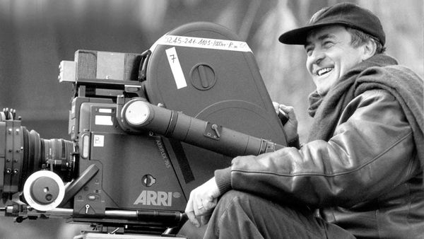 Bernardo Bertolucci at work