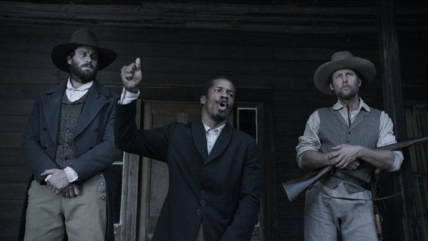 Nate Parker, Armie Hammer, Jayson Warner Smith in The Birth Of A Nation - Set against the antebellum South, this story follows Nat Turner, a literate slave and preacher, whose financially strained owner, Samuel Turner, accepts an offer to use Nat's preaching to subdue unruly slaves. After witnessing countless atrocities against fellow slaves, Nat devises a plan to lead his people to freedom.