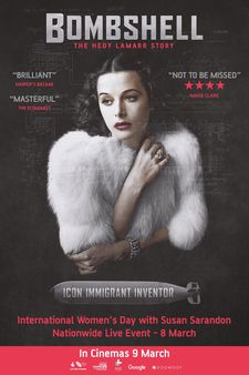 Bombshell: The Hedy Lamarr Story UK poster