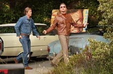 Cliff Booth (Brad Pitt) and Rick Dalton (Leonardo DiCaprio) in Quentin Tarantino's Once Upon a Time … in Hollywood