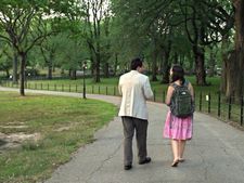 "Sarah and David in Central Park: ""They added a lot of great dialogue!"""