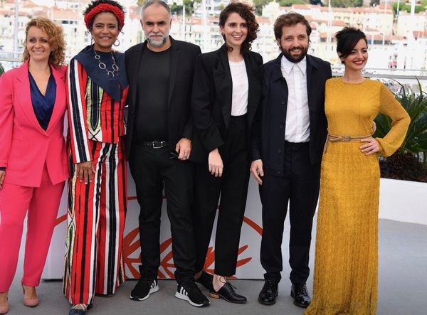 The team from The Invisible Life Of Euridice Gusmao by director Karim Aïnouz (third left) who received the Un Certain Regard award