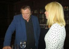 "Brendan Gleeson with Kelly Reilly at the Explorers Club: ""He protects her. It's a final act as a father."""