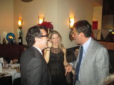 Brian d'Arcy James with co-hosts Kelli O'Hara and Bobby Cannavale