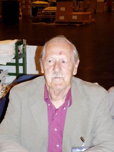 Brian Aldiss pictured in Glasgow in 2005