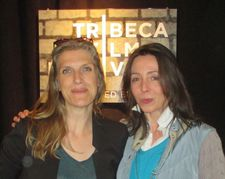 Broken Hill Blues' director Sofia Norlin with Anne-Katrin Titze: