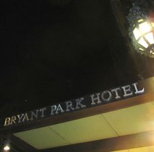 Bryant Park Hotel in New York City