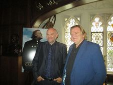 "Brendan Gleeson with Calvary director/writer John Michael McDonagh at the Explorers Club: ""There is something childlike in the way his delineation of good and evil was so clear."