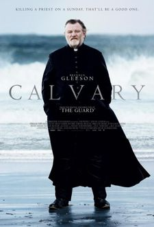 "Calvary poster: ""The sun isn't in his eyes. But yes, he goes down to the beach to meet his fate."""