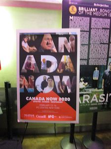 Canada Now poster at the IFC Center in New York