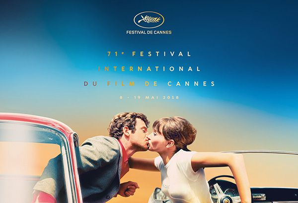 In the mood for Cannes - star kiss between Jean-Paul Belmondo and Anna Karina from this year's Cannes Film Festival poster