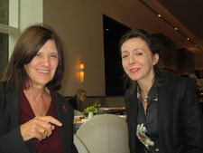 Catherine Breillat with Anne-Katrin Titze at Jean-Georges Vongerichten's Nougatine on Central Park West - 'It is absurd to be normal.'