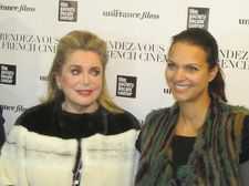 Catherine Deneuve with Executive Director of uniFrance Isabelle Giordano