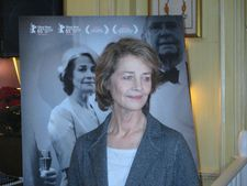 Charlotte Rampling at the tea hosted by Diane von Furstenberg
