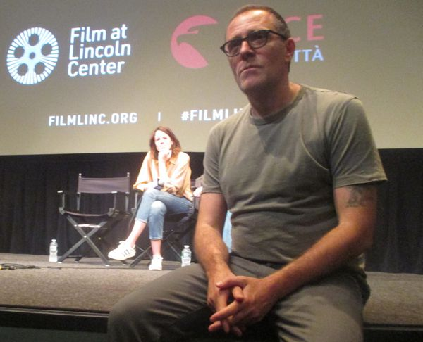 "Chiara Martegiani with Laughing (Ride) director Valerio Mastandrea on crying: ""For me it's a nightmare."""
