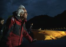 "Christo on Lago d'Iseo night patrol: ""It's at the foot of the Alps and even in the summer it can be quite rough."""