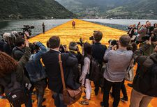 "Christo on The Floating Piers out on Lago d'Iseo: ""How fragile and emotional it is. You just go there as a spectator and you don't realise."""