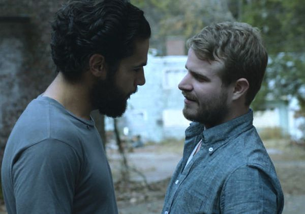 Christopher Abbott as Andrew with Brady Corbet as Ira in Mona Fastvold's hauntingly beautiful The Sleepwalker.