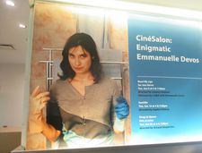 CinéSalon: Enigmatic Emmanuelle Devos poster at the French Institute Alliance Française in New York