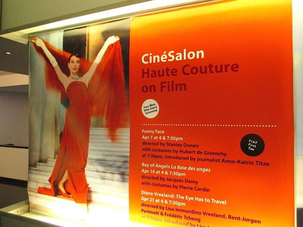 CinéSalon Haute Couture on Film opening night - Stanley Donen's Funny Face starring Audrey Hepburn in Givenchy, Fred Astaire and Kay Thompson.