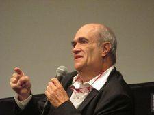 Brooklyn author Colm Tóibín makes a point