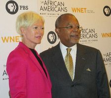 Cosmopolitan editor-in-chief Joanna Coles with Henry Louis Gates, Jr