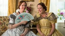 "Emily Dickinson with Vinnie (Jennifer Ehle): ""I said - could you just smile or half smile?"""