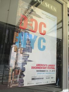 DOC NYC poster at the IFC Center