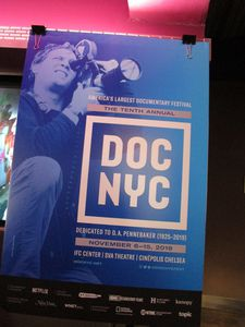 The tenth annual DOC NYC poster at Cinépolis Chelsea