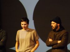 Maggie Gyllenhaal and Scoot McNairy after the Frank screening in Sundance.